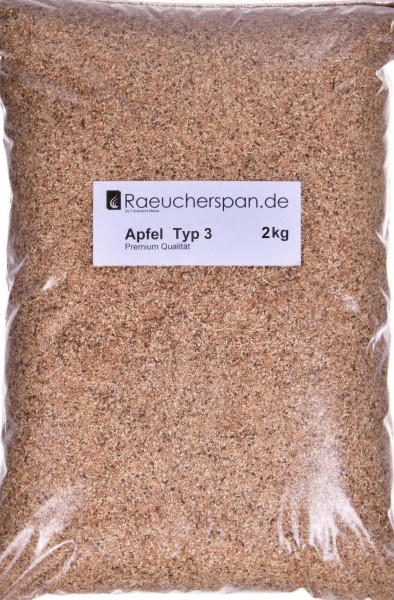 "Apfelholz Räuchermehl ""Typ 3"" 2 kg"