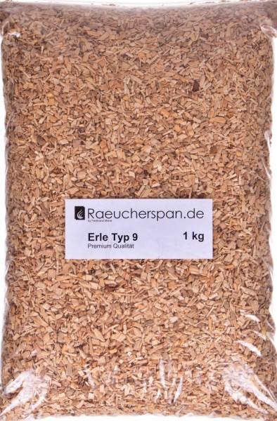 Räucherspäne aus Erle Typ 9, 1kg