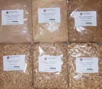 Räuchermehl und -späne 6 Sorten á 1kg im Sparpaket
